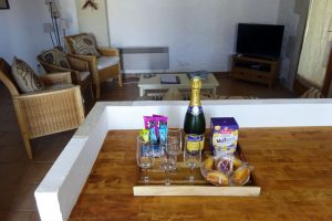 welcome tray at Cersay holiday home