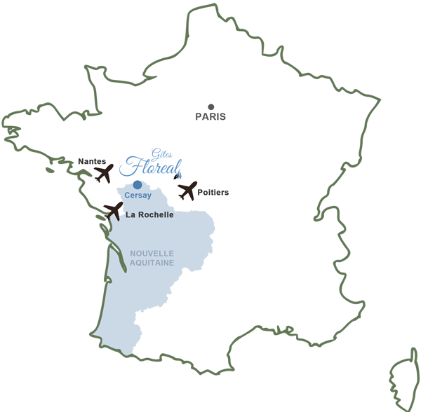 holiday in France map