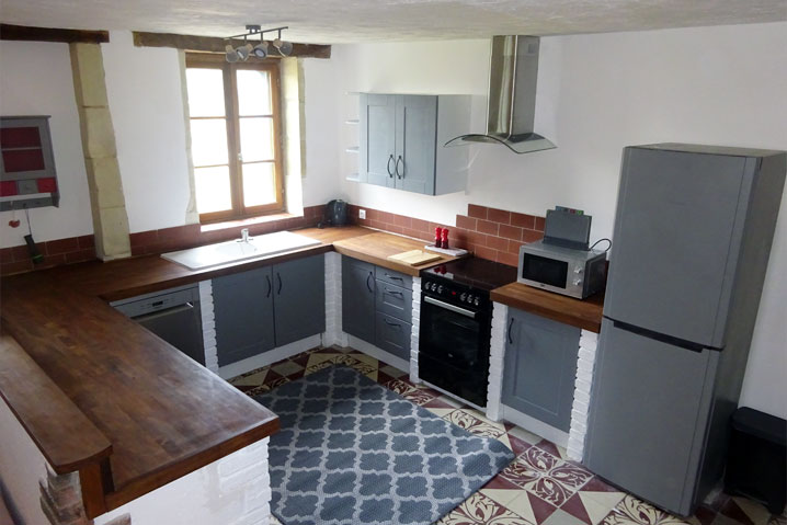 kitchen area self catering holiday